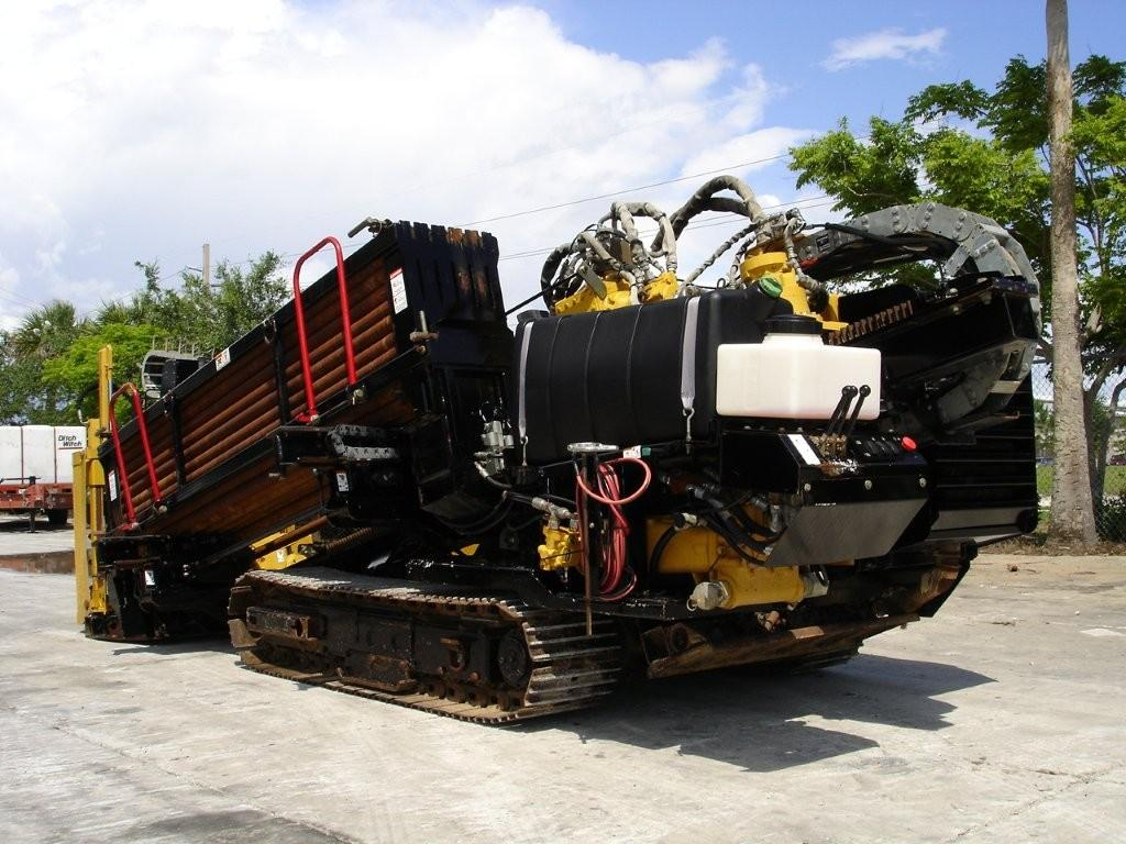 This Vermeer D24X40 directional boring machine from Garner Equipment has John Deere diesel, drill head, hex collar, starter rod, and bit.
