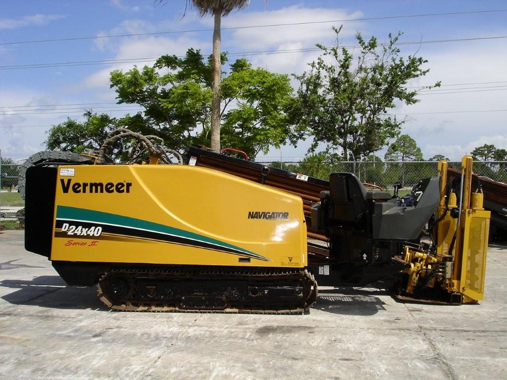 This Vermeer directional boring machine has 500 feet of drill stem and is available through Garner Equipment.
