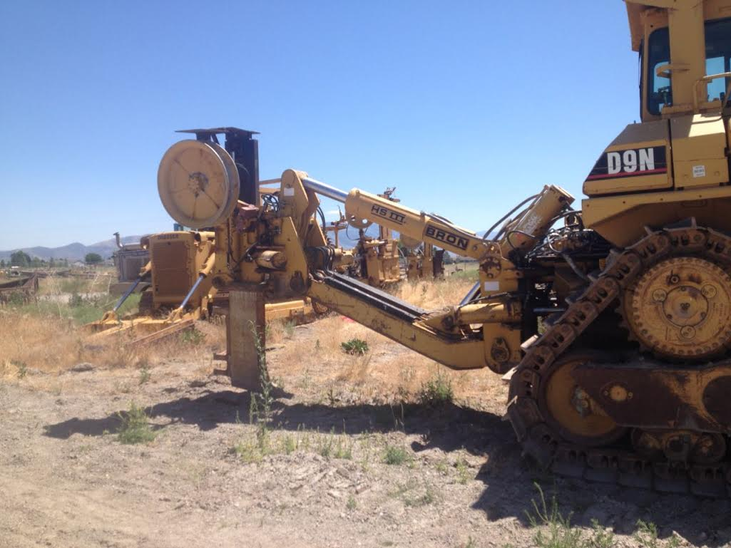 Cat D9N with Bron HS3 Cable Plow
