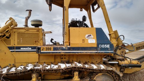 1997 Komatsu with Bron HS-II cable plow