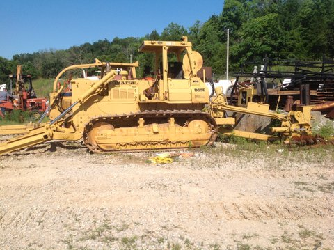 1985 Komatsu D65E with Ateco Cable Plow is available from Garner Equipment.